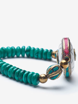 Explorer - Malachite Gold Bracelet