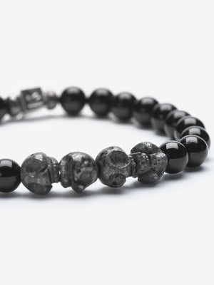 Creep - Black Tourmaline and Pyrite Bracelets