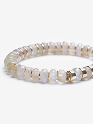Golden Skull - Quartz Stackable Bracelet