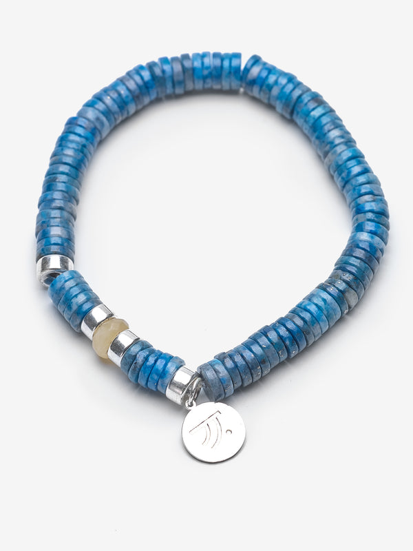 My Hero - Light Blue Lapis Bracelet with Yellow Jade