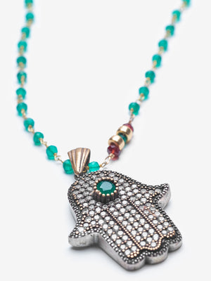 Zomorod - Hamsa  Necklace