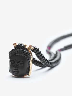 How - Onyx Buddha Necklace