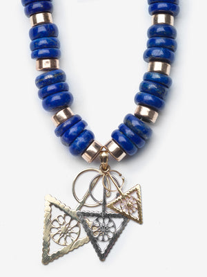 Azrak Blue Lapis Gold Necklace