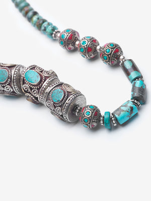 Yamanda - Turquoise Antique Moroccan Necklace