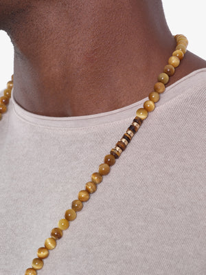 Yellow Ledbetter - Tiger's Eye Buddha Necklace