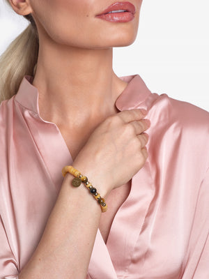 Courage - Yellow Jade Bracelet