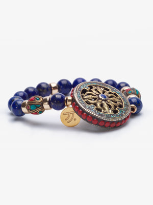 Khadija - Lapis Stackable Gold Bracelets