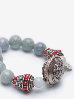 Shield - Aquamarine Bracelet