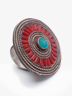 Moroccan Turquoise Ring - One of a Kind