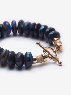 Into the Mystic - Deep Blue Labradorite Rose Gold Bracelet