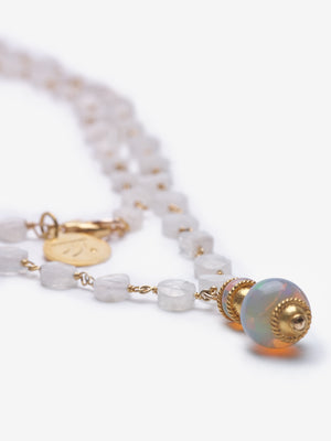Opal Moonstone Pagoda Necklace