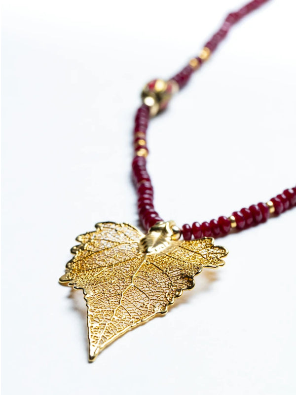 La Union 14K Gold Leaf Necklace