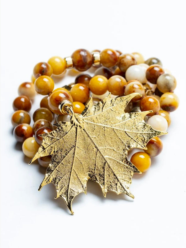 Golden Jade Fall Necklace