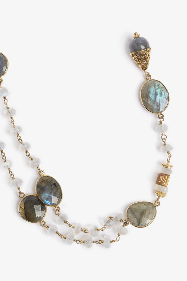 Jupiter Labradorite Moonstone Necklace