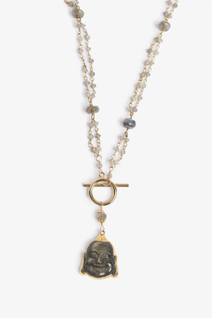 Into the Mystic Labradorite Buddha Necklace
