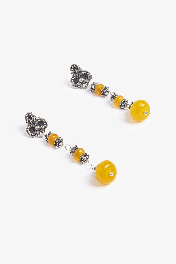 Yellow Fire Earrings