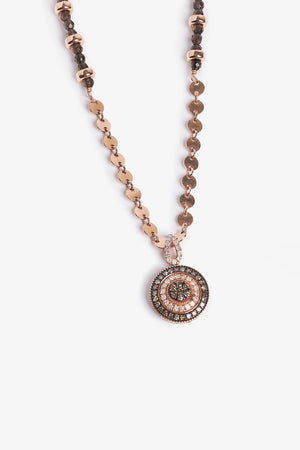 Brilliance - Brown Diamond Rose Gold Necklace