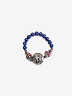 Shield - Blue Lapis Shield Bracelet | Jada Jo