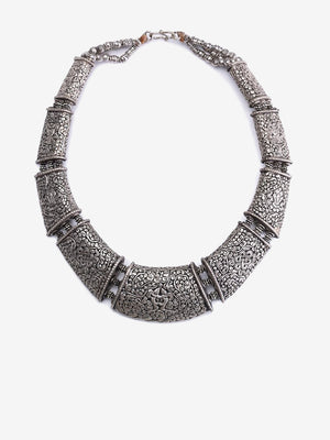 Endless Elephant - Tibetan Silver Necklace - One of a Kind | Jada Jo