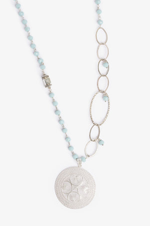 Bloom Larimar Silver Necklace