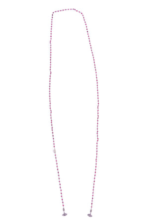 Diamond Evil Eye of Red Ruby Lariat Necklace