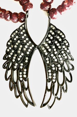 Freedom Angel Pave Diamond Necklace