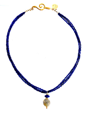 Timeless Sparkle Pave Sapphire Necklace