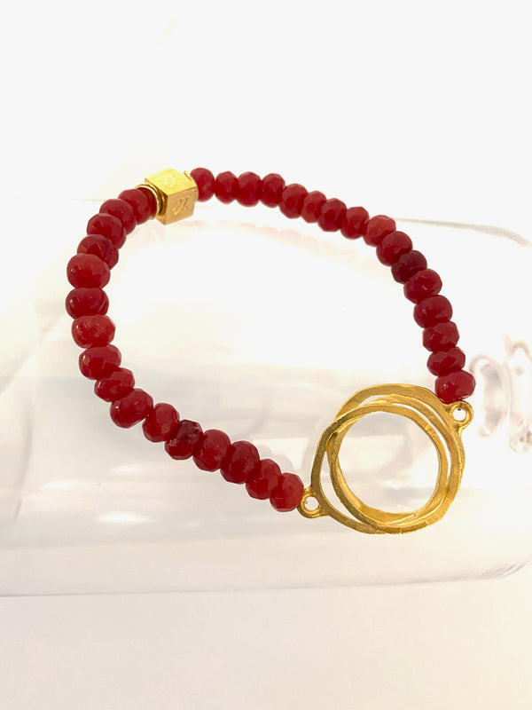 I Love You Much More Red Jade Bracelet