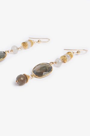 Jupiter Moonstone Earrings