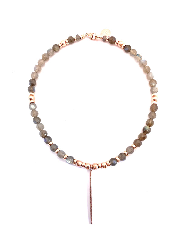 La Vie en Rose Labradorite Necklace