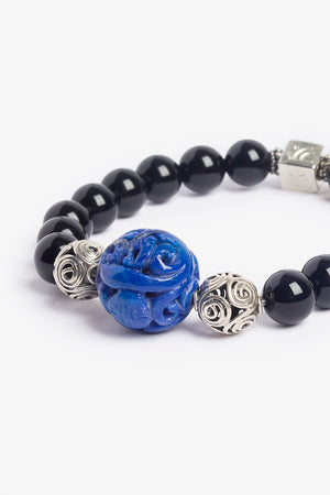 Black and Blue Lapis Ocean Bracelet