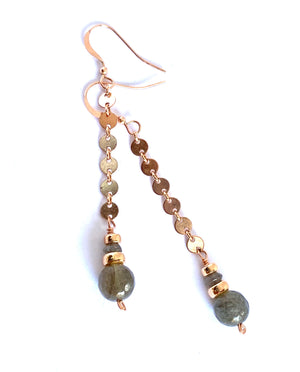 Brilliance Labradorite Earrings
