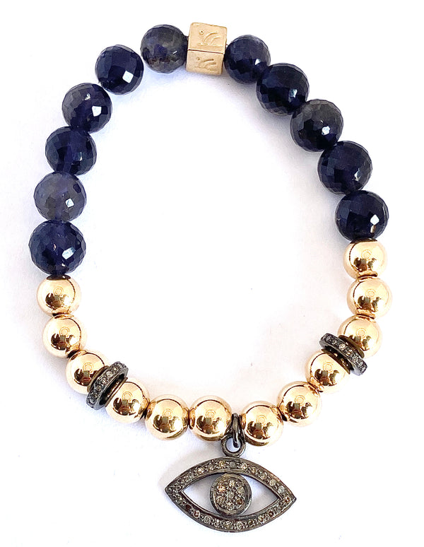 Sparkle of Hope Evil Eye Iolite Bracelet