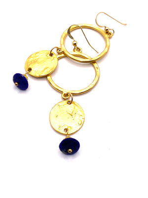 Rise and Shine Lapis Earrings
