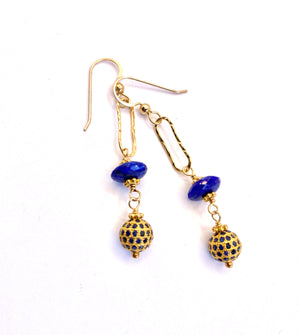 Timeless Sparkle Pave Sapphire Earrings