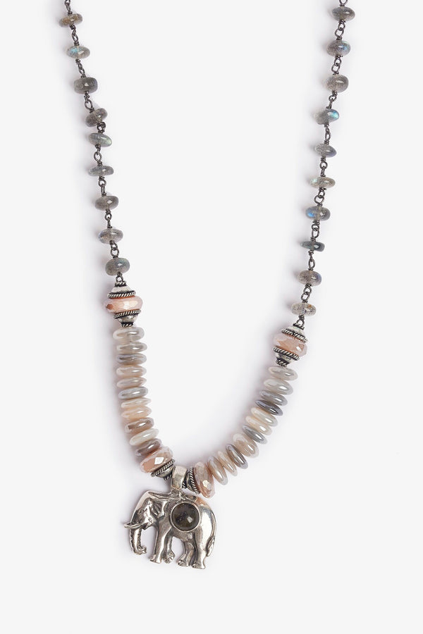 Labradorite Moonstone Necklace - One-of-a-Kind