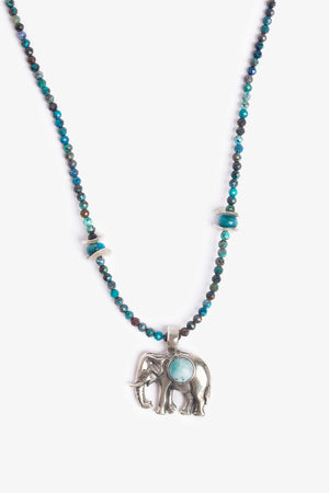 Elephant Love Blue Necklace