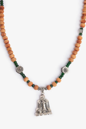 Happy Buddha Sandalwood Necklace