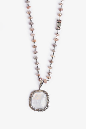 To The Moon and Back Moonstone Necklace - One-of-a-Kind