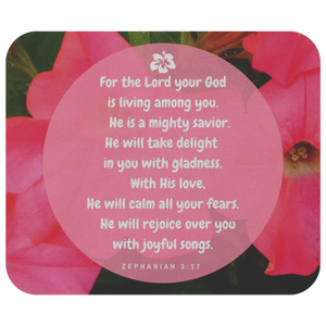 Mousepad God Will Rejoice Over You Zephaniah 3:17