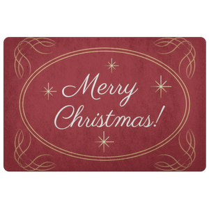 Doormat Merry Christmas Gold Design