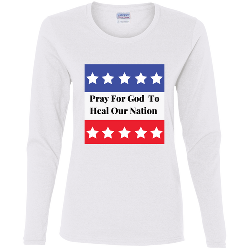 Heal Our Nation   Ladies' Cotton LS T-Shirt