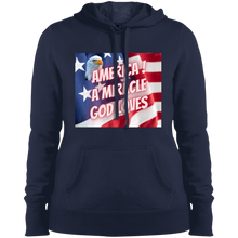 Load image into Gallery viewer, God Loves America Ladies' Pullover Hooded Sweatshirt