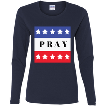 Load image into Gallery viewer, Pray   Ladies' Cotton LS T-Shirt