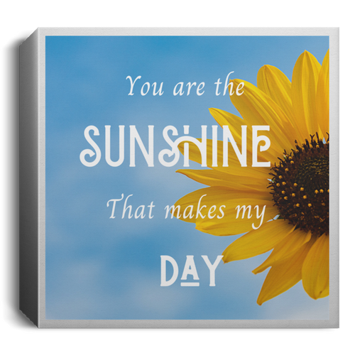 Wall Art Mini Square Canvas Gift of Sunshine