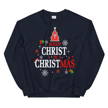 Load image into Gallery viewer, Keep Christ in Christmas Unisex Sweatshirt