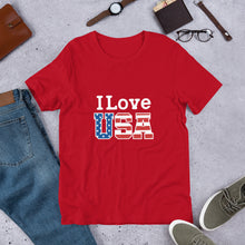 Load image into Gallery viewer, I Love USA Unisex T-Shirt