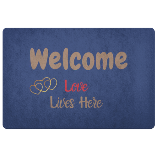 Welcome! Love Lives Here Doormat