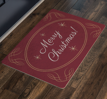 Load image into Gallery viewer, Doormat Merry Christmas Gold Design
