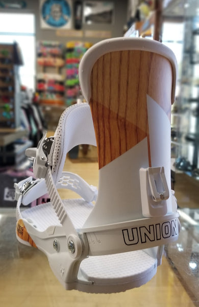 2020 Union Force Binding X spring Break Colorway White with Wood Grain
